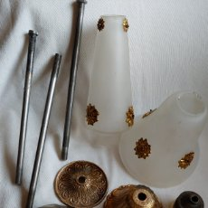 Antigüedades: LOTE PIEZAS PARA LÁMPARAS ANTIGUAS. Lote 199344500