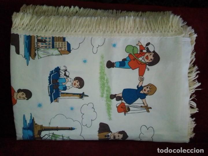 Antigüedades: Antigua colcha de la serie de dibujos Marco, de TVE. Años 70. - Foto 4 - 199358113