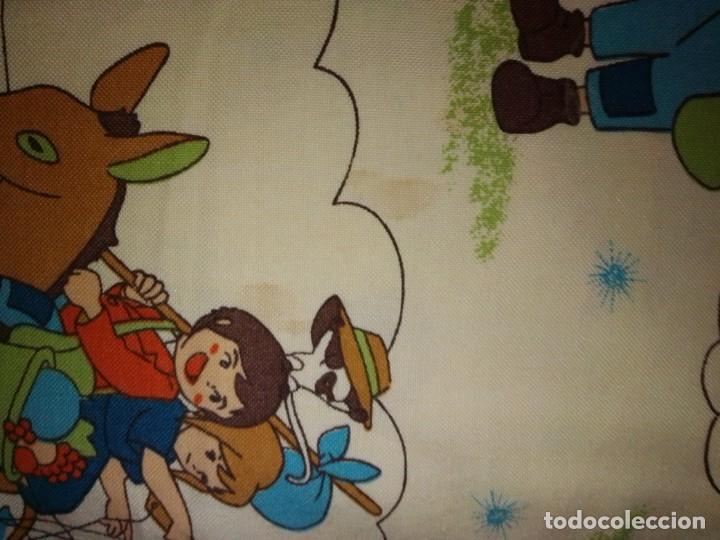 Antigüedades: Antigua colcha de la serie de dibujos Marco, de TVE. Años 70. - Foto 10 - 199358113