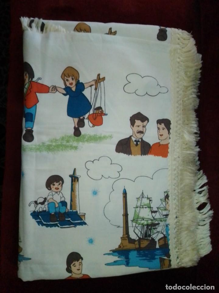 Antigüedades: Antigua colcha de la serie de dibujos Marco, de TVE. Años 70. - Foto 19 - 199358113