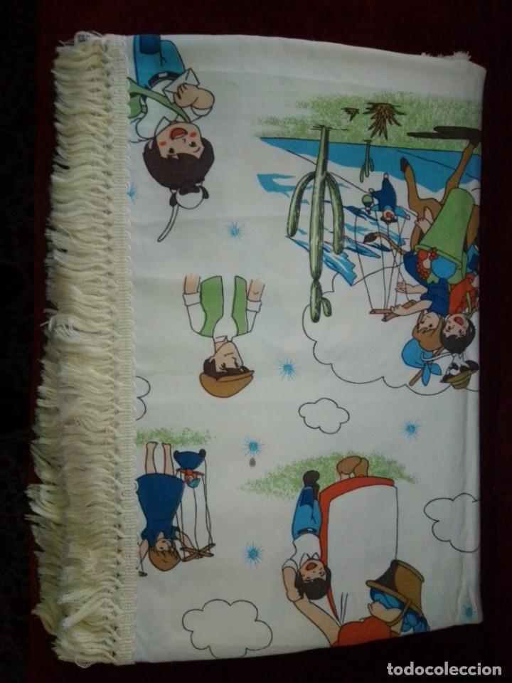 Antigüedades: Antigua colcha de la serie de dibujos Marco, de TVE. Años 70. - Foto 20 - 199358113
