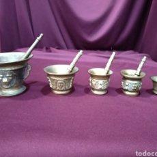 Antigüedades: LOTE DE 5 MORTEROS / ALMIREZ DE BRONCE. Lote 199370391