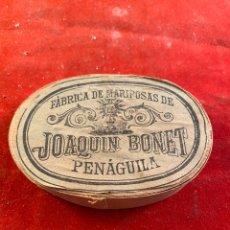 Antigüedades: FÁBRICA DE MARIPOSAS DE JOAQUIN BONET PENAGUILA. Lote 199376557