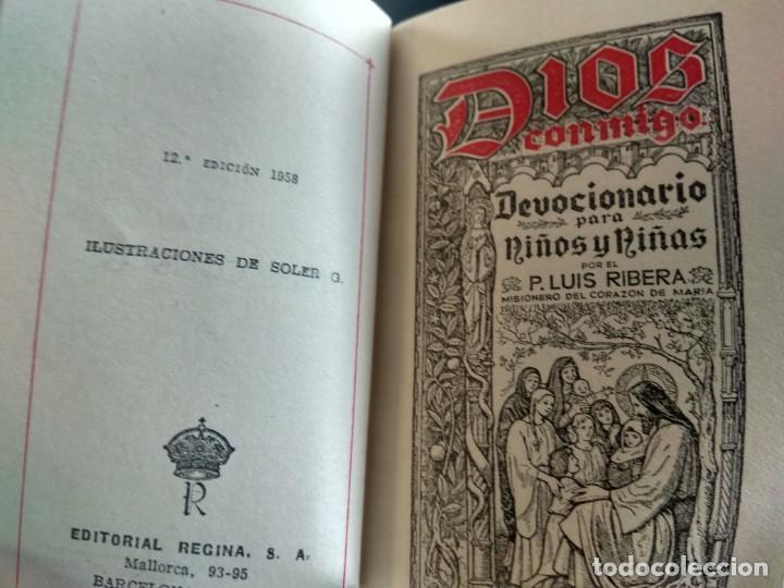 Antigüedades: Misal de 1ª comunión en piel blanca. - Foto 2 - 183610362