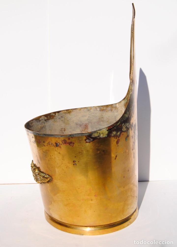 Antigüedades: Macetero de bronce de colgar - Foto 5 - 199410223