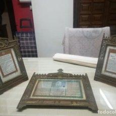 Antigüedades: MUY ANTIGUAS JUEGO DE SACRAS DE BRONCE MIREN FOTOS . Lote 199433735