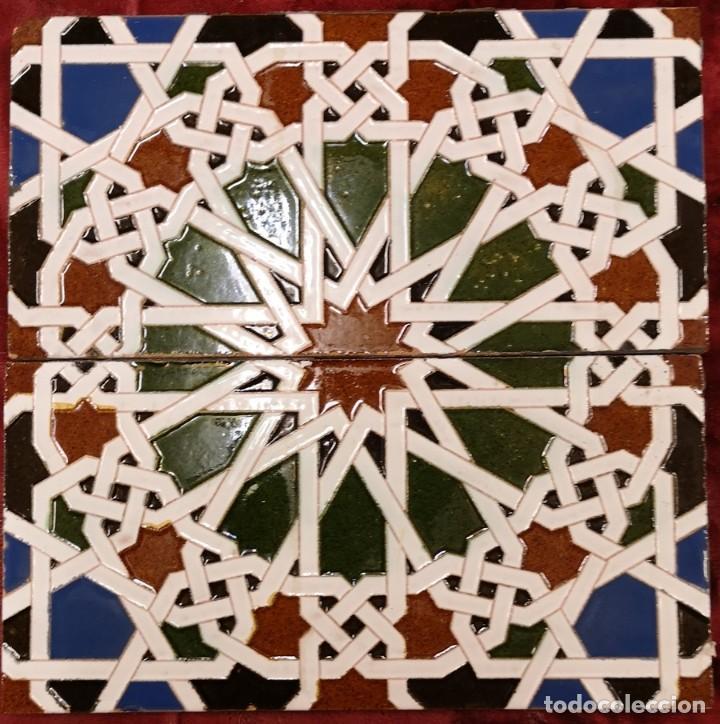 PAREJA AZULEJOS ANTIGUOS TRIANEROS (Antigüedades - Porcelanas y Cerámicas - Triana)