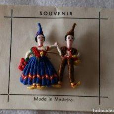 Antigüedades: ANTIGUO SOUVENIR ISLA DE MADEIRA PORTUGAL HECHO A MANO MUY CURIOSO TRAJE TIPICO FOLKLORE UNICO. Lote 199465636