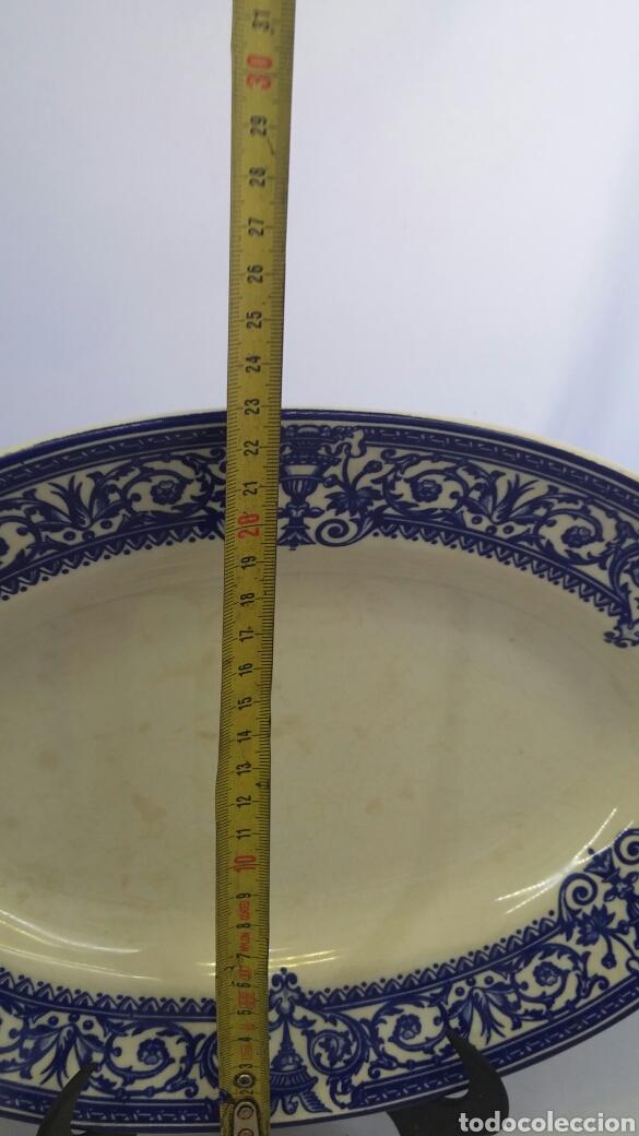 Antigüedades: Fuente mediana La Cartuja Pickmam 150 Aniversario - Foto 8 - 199486508