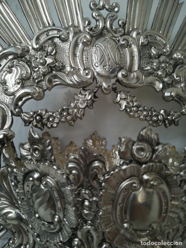 Antigüedades: Antigua corona virgen plata - Foto 2 - 199487966