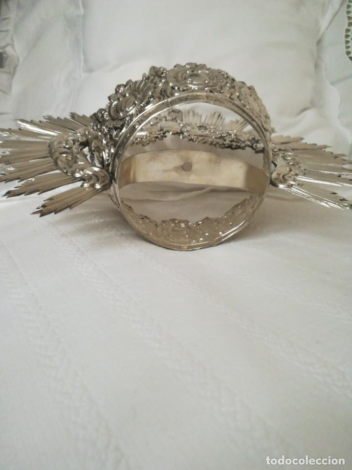 Antigüedades: Antigua corona virgen plata - Foto 3 - 199487966