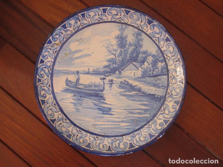 PLATO CERAMICA TRIANA JOSE MACIAS (Antigüedades - Porcelanas y Cerámicas - Triana)