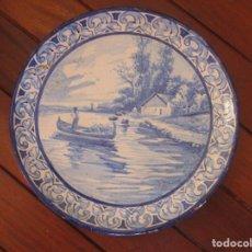 Antigüedades: PLATO CERAMICA TRIANA JOSE MACIAS. Lote 199513831