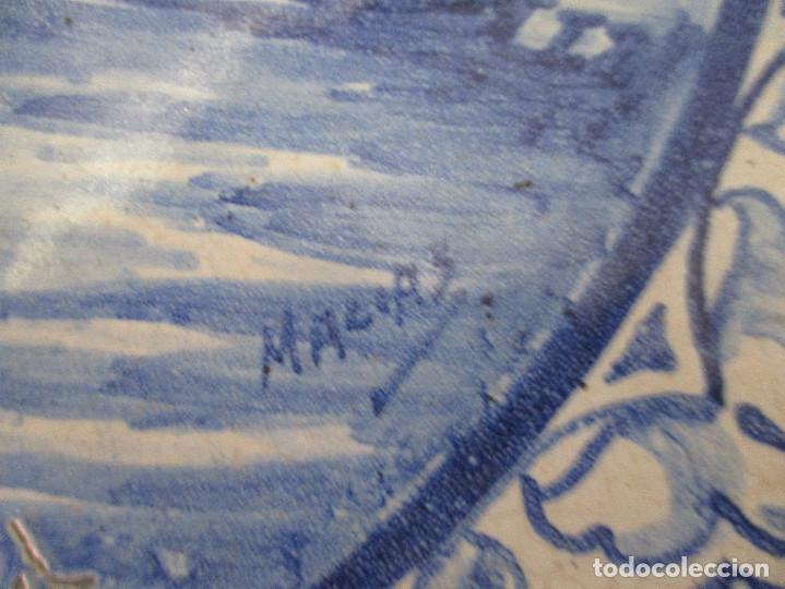 Antigüedades: Plato ceramica Triana Jose Macias - Foto 2 - 199513831
