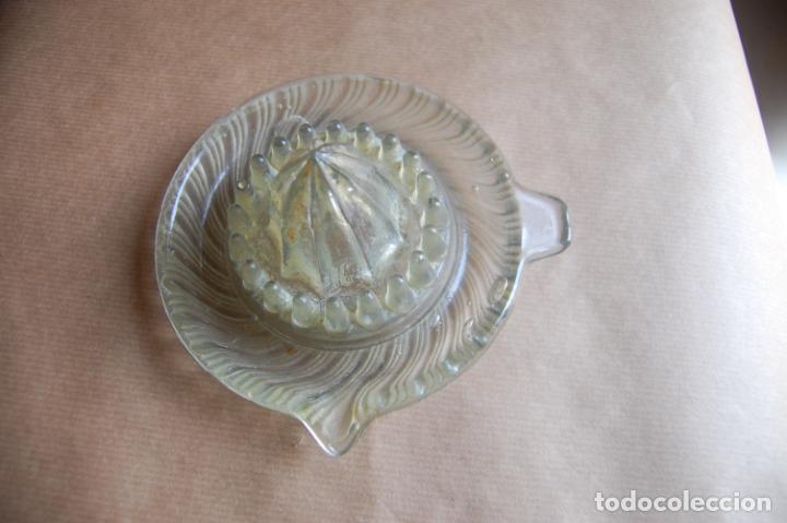 Antigüedades: Escurridor de fruta. Cristal de Santa Lucía, Cartagena, Murcia. - Foto 2 - 199525001
