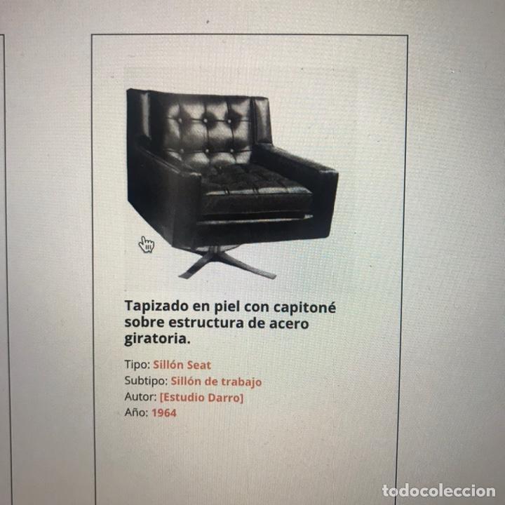 SILLON MODELO SEAT ESTUDIO DARRO 1964 (Antigüedades - Muebles Antiguos - Sillones Antiguos)