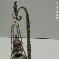 Antigüedades: INCENSARIO /BOTAFUMEIRO DE METAL SANTIAGO DE COMPOSTELA 17 CM. Lote 199529661