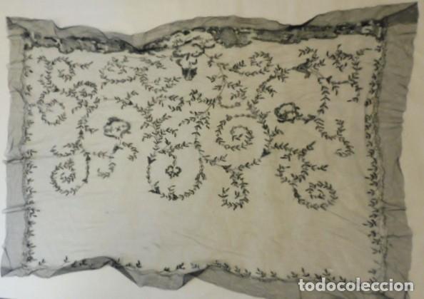 Antigüedades: ANTIGUA MANTILLA - VELO DE ENCAJE PPIO. S. XX - Foto 3 - 199630338