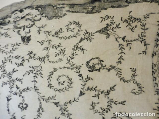 Antigüedades: ANTIGUA MANTILLA - VELO DE ENCAJE PPIO. S. XX - Foto 6 - 199630338
