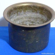 Antigüedades: MACETA DE BRONCE CON SELLO DE BACARA EN LA BASE.. Lote 199636636