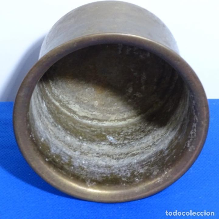 Antigüedades: Maceta de bronce con sello de bacara en la base. - Foto 2 - 199636636