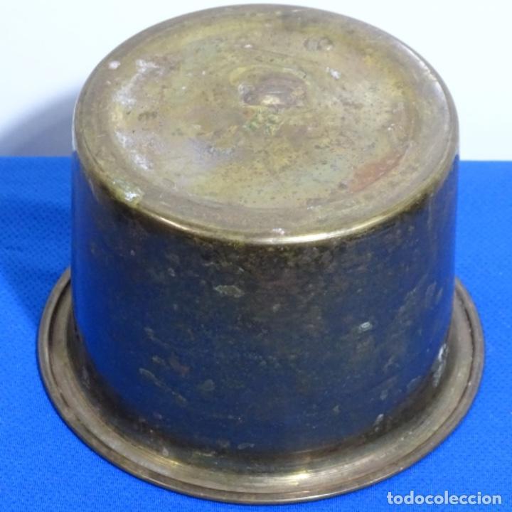 Antigüedades: Maceta de bronce con sello de bacara en la base. - Foto 3 - 199636636