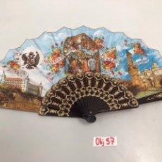 Antigüedades: ABANICO SOURVENIR RECUERDO DE TOLEDO. Lote 199644845