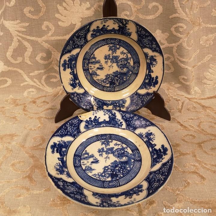 PAREJA PLATOS CHINESCOS ANTIGUOS (Antigüedades - Porcelanas y Cerámicas - San Juan de Aznalfarache)