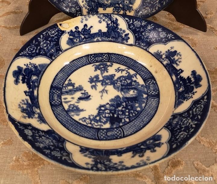 Antigüedades: Pareja Platos Chinescos Antiguos - Foto 2 - 199657285