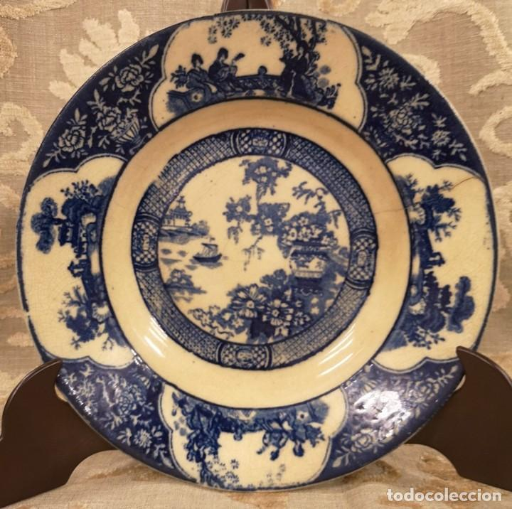 Antigüedades: Pareja Platos Chinescos Antiguos - Foto 3 - 199657285