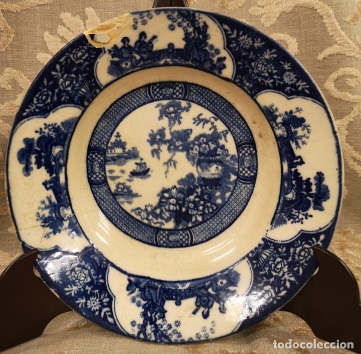 Antigüedades: Pareja Platos Chinescos Antiguos - Foto 5 - 199657285