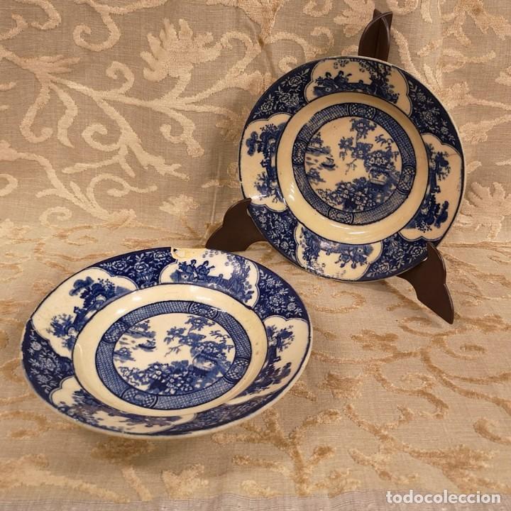 Antigüedades: Pareja Platos Chinescos Antiguos - Foto 7 - 199657285