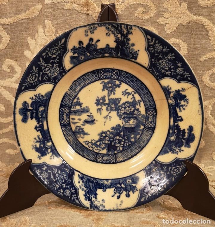 Antigüedades: Pareja Platos Chinescos Antiguos - Foto 8 - 199657285