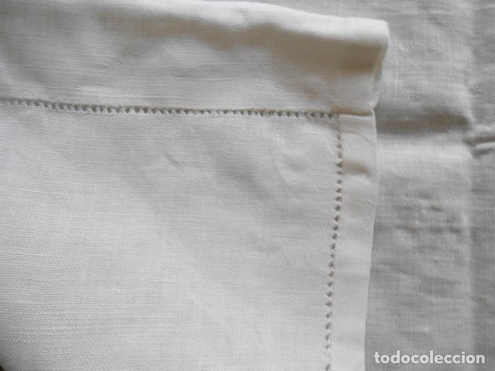 Antigüedades: Magnifica cortina de lino,bordado a mano 60 x 175 cm.Años 80.Beige muy claro. nuevo - Foto 16 - 199657561