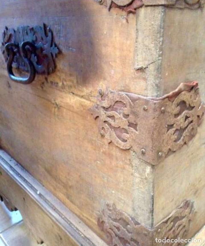 Antigüedades: Antiguo Arcón o Baúl de Nogal - Foto 4 - 199680126