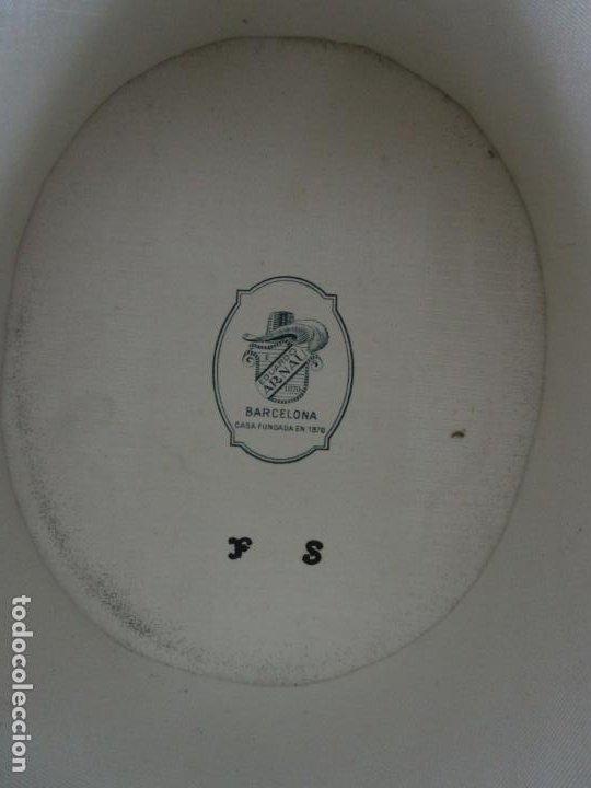 Antigüedades: Sombrero - Chistera en piel de Foca - Eduardo Arnau, Barcelona - con Caja y Guantes - Perfecto - Foto 11 - 199693785