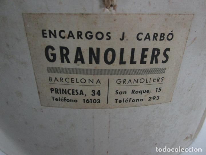 Antigüedades: Sombrero - Chistera en piel de Foca - Eduardo Arnau, Barcelona - con Caja y Guantes - Perfecto - Foto 20 - 199693785