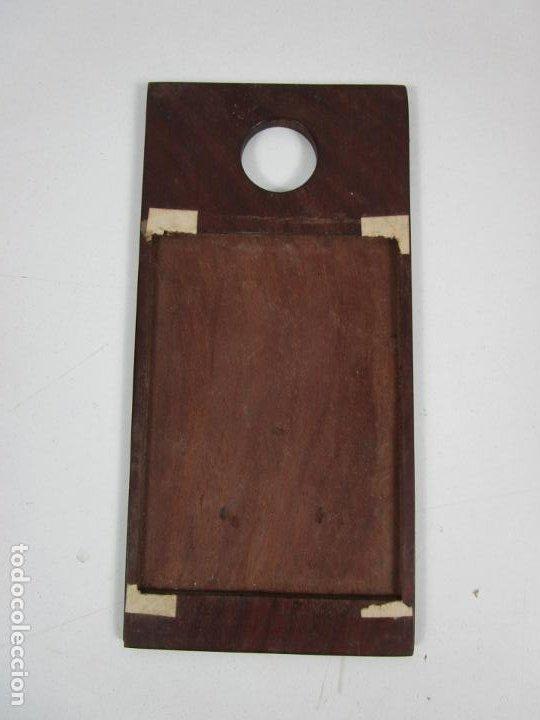 Antigüedades: Curiosa Caja, Neceser - Porta Fotos - Madera de Caoba - Utensilio en Hueso - S. XIX - Foto 8 - 199695320