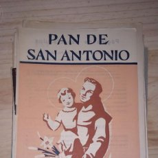 Antigüedades: LOTE 40 EJEMPLATES PAN DE SAN ANTONIO.PADRES FRANCISCANOS DE CATALUÑA. AÑOS 50. LERIDA LLEIDA. . Lote 199695970