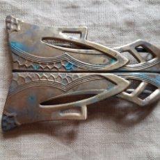Antigüedades: MAGNIFICA ANTIGUA HEBILLA ART DECÓ. Lote 199708148