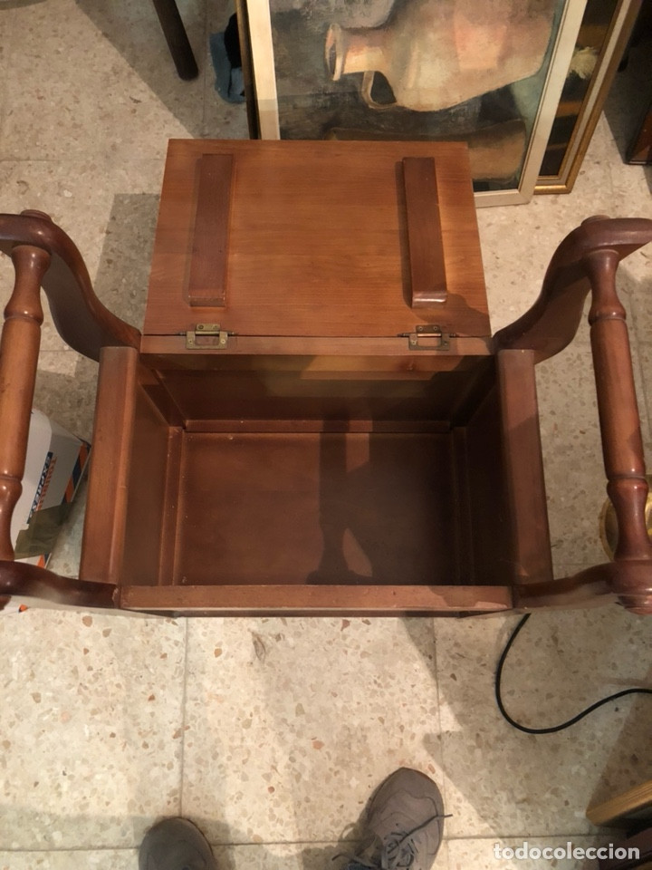 Antigüedades: Bonito mueble auxiliar de madera maciza, años 70 - Foto 4 - 199746186