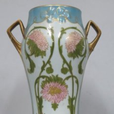 Antigüedades: PRECIOSO JARRON ART NOUVEAU. LIMOGES. Lote 199751307