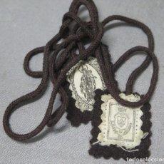 Antigüedades: ESCAPULARIO VIRGEN DEL CARMEN. Lote 199759341