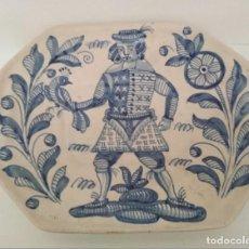 Antigüedades: FUENTE VINTAGE OCHAVADA DE TALAVERA, LA MENORA, 33 X 27,5 CM. Lote 199776672