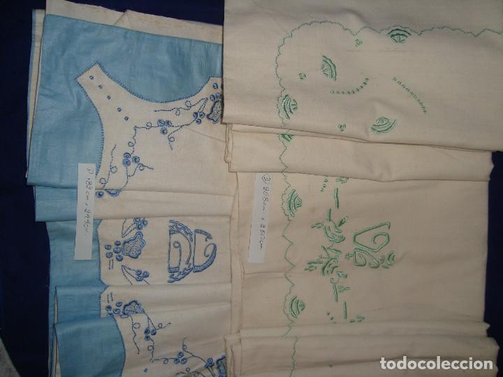 Antigüedades: SÁBANAS ANTIGUAS DE LINO O ALGODÓN,BORDADAS - Foto 2 - 199777436