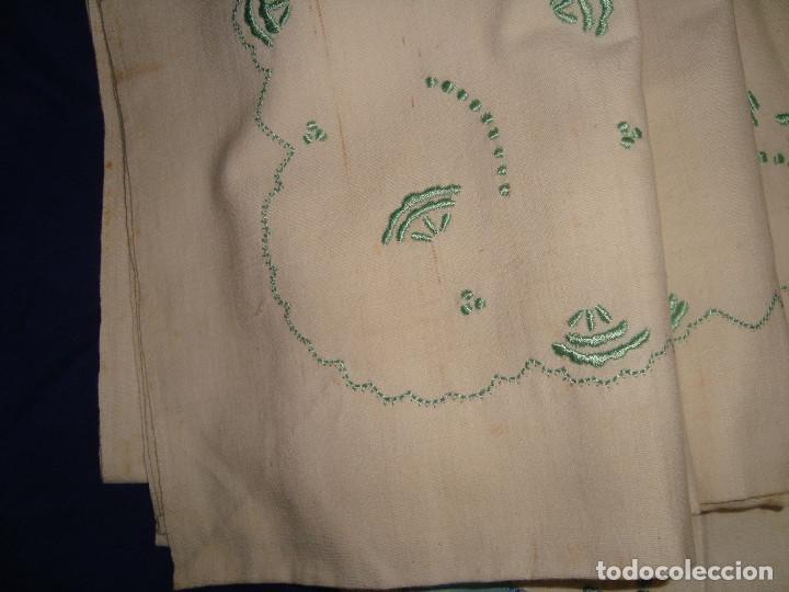 Antigüedades: SÁBANAS ANTIGUAS DE LINO O ALGODÓN,BORDADAS - Foto 7 - 199777436