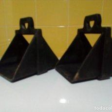 Antigüedades: ESTRIBOS VAQUEROS DE FIBRA. Lote 199782502