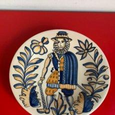 Antigüedades: PLATO. TALAVERA. S.MORA. GRAN TAMAÑO ( 30 CM ). Lote 199790327
