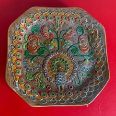 Antigüedades: PLATO OCTOGONAL. CERÁMICA. CONVENTO ARACENA. 23 CM. Lote 199790562