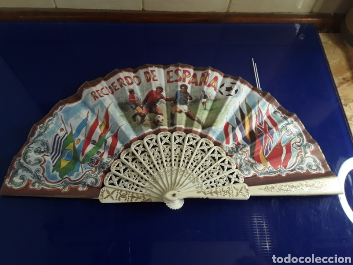 ANTIGUO ABANICO DE PASTA (Antigüedades - Moda - Abanicos Antiguos)